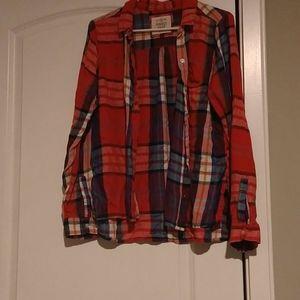 SO Red Plaid Perfect Shirt